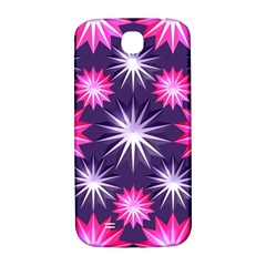 Stars Patterns Christmas Background Seamless Samsung Galaxy S4 I9500/I9505  Hardshell Back Case