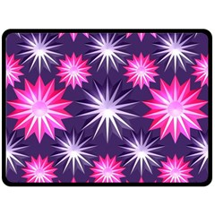 Stars Patterns Christmas Background Seamless Double Sided Fleece Blanket (Large)