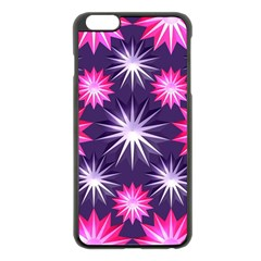 Stars Patterns Christmas Background Seamless Apple iPhone 6 Plus/6S Plus Black Enamel Case