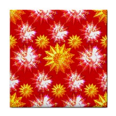 Stars Patterns Christmas Background Seamless Tile Coasters