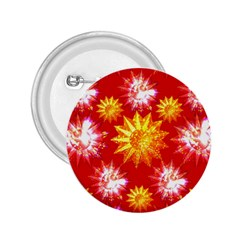 Stars Patterns Christmas Background Seamless 2.25  Buttons