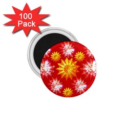 Stars Patterns Christmas Background Seamless 1.75  Magnets (100 pack)