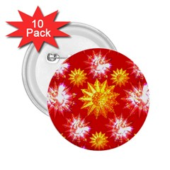 Stars Patterns Christmas Background Seamless 2 25  Buttons (10 Pack)