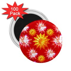 Stars Patterns Christmas Background Seamless 2 25  Magnets (100 Pack)