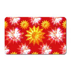 Stars Patterns Christmas Background Seamless Magnet (Rectangular)