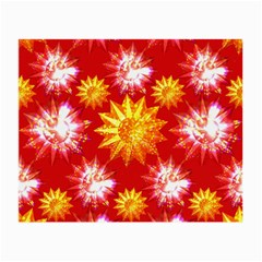 Stars Patterns Christmas Background Seamless Small Glasses Cloth
