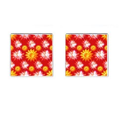 Stars Patterns Christmas Background Seamless Cufflinks (Square)