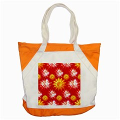 Stars Patterns Christmas Background Seamless Accent Tote Bag
