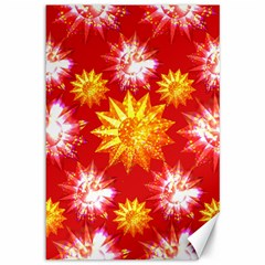 Stars Patterns Christmas Background Seamless Canvas 12  x 18