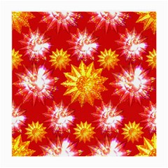 Stars Patterns Christmas Background Seamless Medium Glasses Cloth (2-Side)