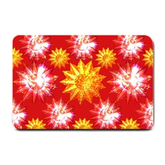 Stars Patterns Christmas Background Seamless Small Doormat