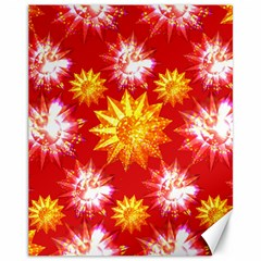 Stars Patterns Christmas Background Seamless Canvas 11  X 14