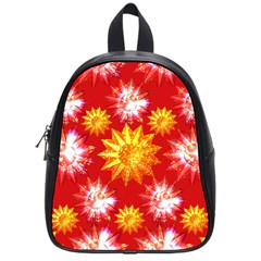 Stars Patterns Christmas Background Seamless School Bags (Small)