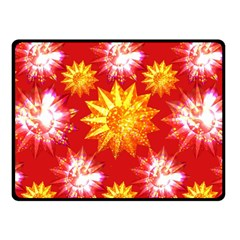 Stars Patterns Christmas Background Seamless Fleece Blanket (Small)