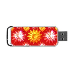 Stars Patterns Christmas Background Seamless Portable Usb Flash (two Sides)
