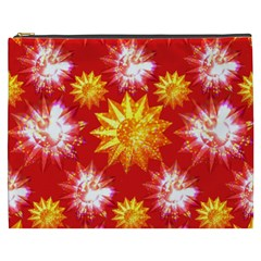 Stars Patterns Christmas Background Seamless Cosmetic Bag (xxxl)