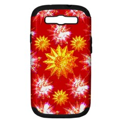 Stars Patterns Christmas Background Seamless Samsung Galaxy S Iii Hardshell Case (pc+silicone)