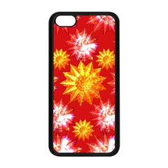 Stars Patterns Christmas Background Seamless Apple Iphone 5c Seamless Case (black)