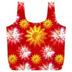 Stars Patterns Christmas Background Seamless Full Print Recycle Bags (l)