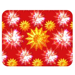 Stars Patterns Christmas Background Seamless Double Sided Flano Blanket (Medium)