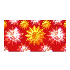 Stars Patterns Christmas Background Seamless Satin Wrap