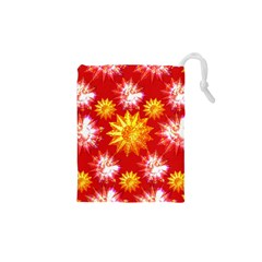 Stars Patterns Christmas Background Seamless Drawstring Pouches (XS)