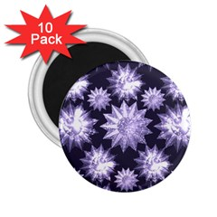 Stars Patterns Christmas Background Seamless 2.25  Magnets (10 pack)