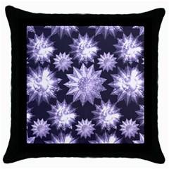 Stars Patterns Christmas Background Seamless Throw Pillow Case (black)