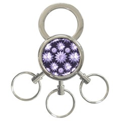 Stars Patterns Christmas Background Seamless 3-Ring Key Chains