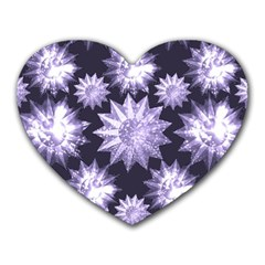 Stars Patterns Christmas Background Seamless Heart Mousepads