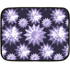 Stars Patterns Christmas Background Seamless Double Sided Fleece Blanket (mini)
