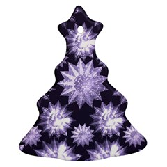 Stars Patterns Christmas Background Seamless Christmas Tree Ornament (Two Sides)