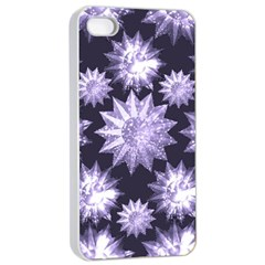Stars Patterns Christmas Background Seamless Apple iPhone 4/4s Seamless Case (White)