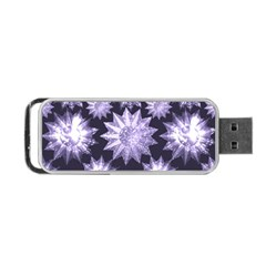 Stars Patterns Christmas Background Seamless Portable Usb Flash (one Side)