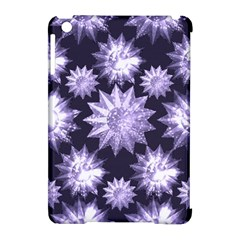 Stars Patterns Christmas Background Seamless Apple Ipad Mini Hardshell Case (compatible With Smart Cover)