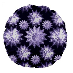 Stars Patterns Christmas Background Seamless Large 18  Premium Round Cushions