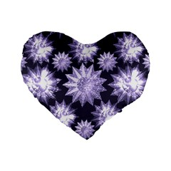 Stars Patterns Christmas Background Seamless Standard 16  Premium Heart Shape Cushions