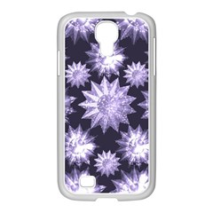 Stars Patterns Christmas Background Seamless Samsung Galaxy S4 I9500/ I9505 Case (white)