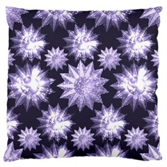 Stars Patterns Christmas Background Seamless Large Flano Cushion Case (two Sides)