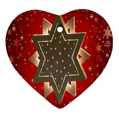 Star Wood Star Illuminated Ornament (heart)