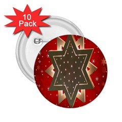 Star Wood Star Illuminated 2.25  Buttons (10 pack)