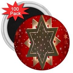 Star Wood Star Illuminated 3  Magnets (100 pack)