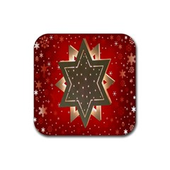 Star Wood Star Illuminated Rubber Square Coaster (4 pack)