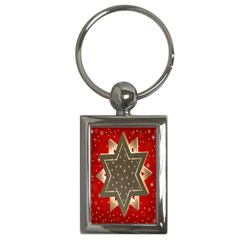 Star Wood Star Illuminated Key Chains (rectangle)