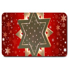 Star Wood Star Illuminated Large Doormat