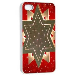 Star Wood Star Illuminated Apple Iphone 4/4s Seamless Case (white)