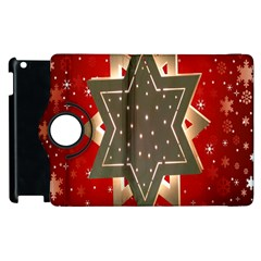 Star Wood Star Illuminated Apple iPad 2 Flip 360 Case