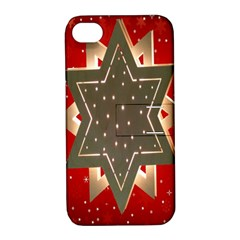 Star Wood Star Illuminated Apple Iphone 4/4s Hardshell Case With Stand