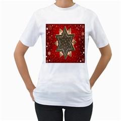 Star Wood Star Illuminated Women s T-Shirt (White)