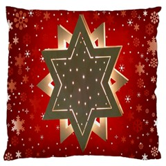 Star Wood Star Illuminated Standard Flano Cushion Case (two Sides)
